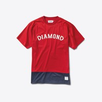Diamond Arch Mesh Tee in Red