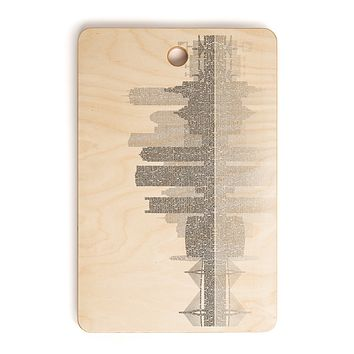 Restudio Designs Boston Skyline Reflection Cutting Board Rectangle