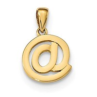 14K Yellow Gold @ Symbol Necklace Charm