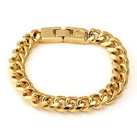 12mm King Ice 14K Gold Miami Cuban Chain Bracelet