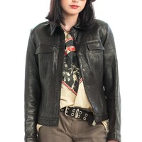 Vintage 90's Buttery Leather Faith Jacket - XS/S