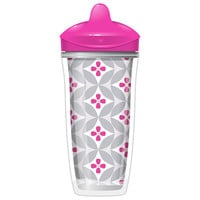 New Playtex 2 Pack 9 Ounce Design Spout Insulated Cups - Girl (Colors/Styles May Vary)
