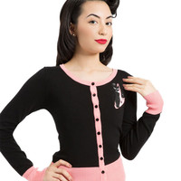 Voodoo Vixen Retro Kitty Button Down Cardigan