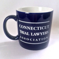 Connecticut Trial Lawyers Association Coffee Mug Cup Lady Justice
