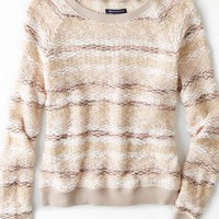AEO Women's Shimmer Striped Sweater (Pink)