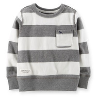 Jersey Striped Pullover