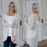 Days Like This Cardi (Stone) - Piace Boutique
