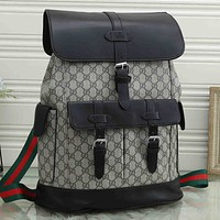 GG G stitching color letter printing large capacity backpack school bag travel bag luggage bag #5