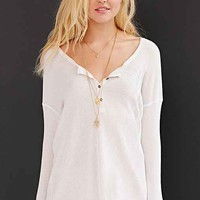 Project Social T Henley Top- Ivory