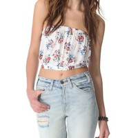Free People Smocked Back Picnic Crop Top | SHOPBOP Save 20% with Code WEAREFAMILY13
