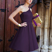 multiway knee length dress - purple by in one clothing | notonthehighstreet.com
