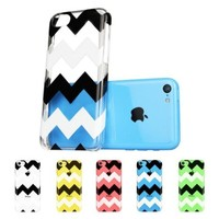 Llamamia Set of 5 Pattern Hard Clear Cases Covers Protectors for Apple Iphone 5C + Stylus Pen + Screen Protector + Cleaning Cloth in Retail Packaging (Animal Cow,houndstooth,white Dot,leopard,Zzag)