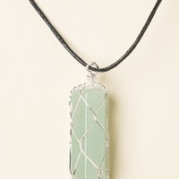 OPAL STONE CHARM CORD NECKLACE