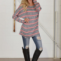 Magnetic Personality Dolman Top - Neon
