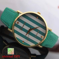 Personalized fashion watches - stripes watches, men and women watch, students watch, unique watches