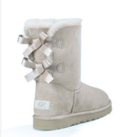 """""""UGG"""" Women male Fashion Wool Snow Boots two bowknot Sand white"""