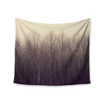 """Robin Dickinson """"Forest"""" Beige Brown Wall Tapestry"""