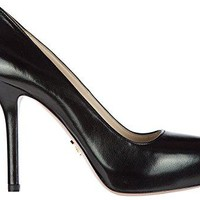 Prada Women's Leather Pumps Court Shoes High Heel Black