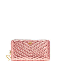 V-Quilt Metallic Crackle Zip Wallet - Victoria's Secret
