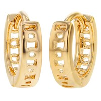Gold Tone Extra Small Baby Girl Hoop Huggie Earrings 8mm