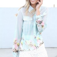 SABO SKIRT  Tail Blouse - Floral - $20.00