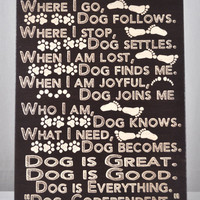 Dog Co-Dependant -Unique Canvas Art, wall decor, wall art, All Dog Breed, Pet Art