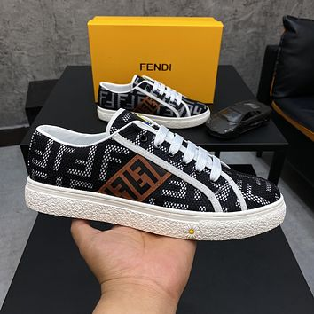 FENDI 2021Men Fashion Boots fashionable Casual leather Breathable Sneakers Running Shoes07310cx