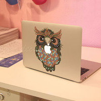owlDecal for Macbook Pro Air or Ipad Stickers Macbook by Tloveskin