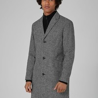 Black And White Houndstooth Overcoat - New Arrivals - New In