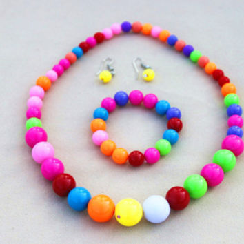 Cute Candy Color Beaded