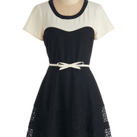 ModCloth Vintage Inspired Mid-length Short Sleeves A-line Past to Pleasant Dress