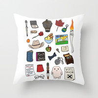 Doctor Who Throw Pillow by Shanti Draws