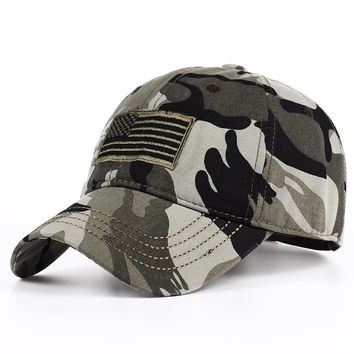 Trendy Winter Jacket VORON new 2018 washed American Flag Force Mens Baseball Cap Tactical Caps High Quality Outdoor Seal Army Camo Snapback Hats AT_92_12