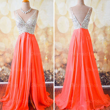 A Line Beaded Bodice and Chiffon Prom Dresses Homecoing Dresses pst0140