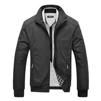 Black Casual Slim fit Jacket