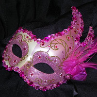 Halloween Mask in Shades of Pink and Gold