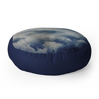 Leah Flores Clouds 1 Floor Pillow Round