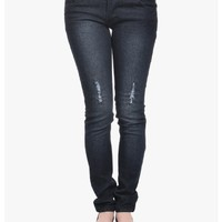 Black Summertime Roll Skinny Jeans   $10.00   Cheap Trendy Jeans Chic Discount Fashion for Women   M