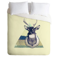 Allyson Johnson Deer And Nature Triangle Duvet Cover