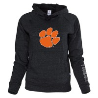 Official NCAA Venley Clemson University Tigers TIGER RAG Women's Boyfriend-Fit Adult Hoodie Stylish Tri- Blend  Full Sleeve O-Neck Durable Premium Sweatshirt