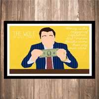 "The Wolf of Wall Street ""Money is Oxygen"" Print"