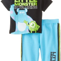 Disney Baby Boys''  Monsters inc. Two-Piece French-Terry Pant Set