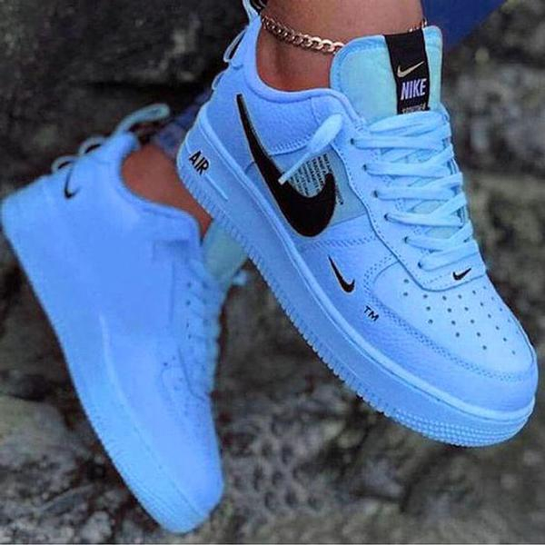 Image of Nike Air force 1 AF1 classic color block low-top men's and women's sneakers Shoes