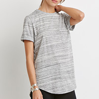 Marled Knit Pocket Tee - Tops - 2000183996 - Forever 21 UK