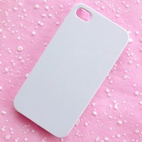 iPhone Case iPhone 4 Case for DIY Cell Phone Deco Decoden White