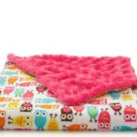 Tourance - Owls Baby Blanket, Pink