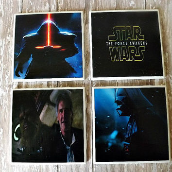 Star Wars The Force Awakens Ceramic Tile Coasters-Christmas Gift
