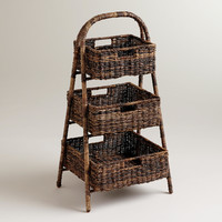 Marisa Madras 3-Basket Tray Stand - World Market