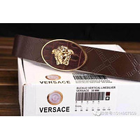 Versace Buckle Logo Blue Leather Versace Litchi Stria Belt Collection Italy Men's Silv