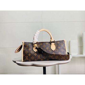 LV Women Leather Shoulder Bags Satchel Tote Bag Handbag Shopping Leather Tote Crossbody